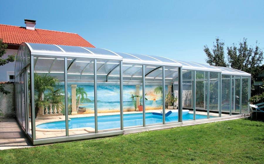 Schwimmbad berdachungen for Pool holzdekor