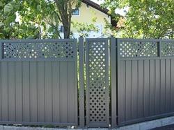 Sichtschutz aluminium pulverbeschichtet