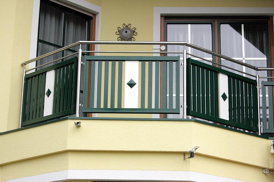 balkon gel nder in edelstahl alu. Black Bedroom Furniture Sets. Home Design Ideas