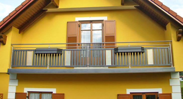 Balkon Gelander In Edelstahl Alu