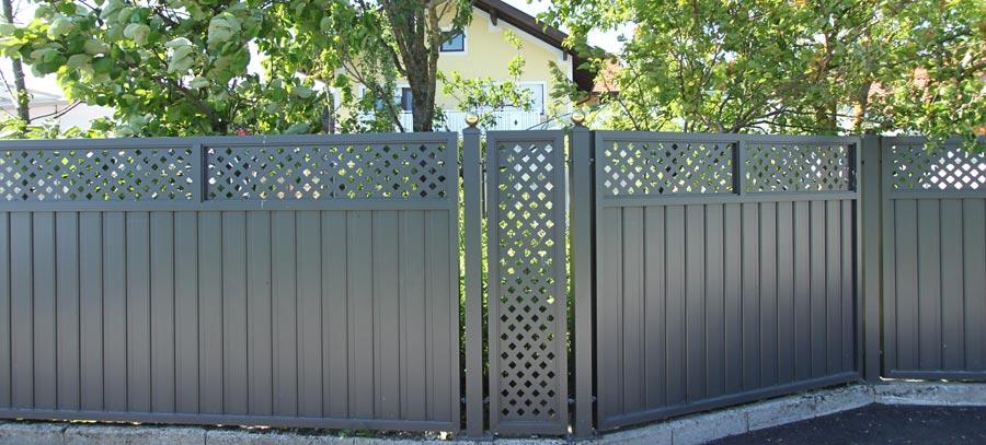 Zaune Sichtschutz Aluminium Pulverbeschichtet