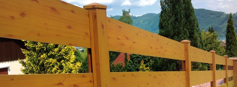 Zaune Sichtschutz Aluminium Holzdekor